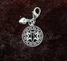 925 Sterling Silver Charm Triple Moon Goddess Wicca Pagan Celtic