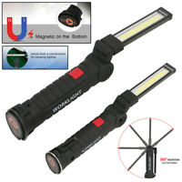 LED COB Rechargeable Magnetic Work Light Torch Flashlight Folding Lamp