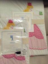 2pc Pottery Barn Kids Grace Embroidered Princess Duvet Cover Standard Sham Twin
