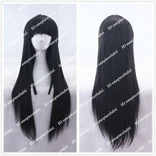 75cm Long Akiyama Mio K-ON!/Akemi Homura Black Straight cosplay wig CC103