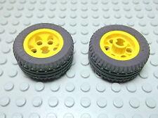 Lego 2 Räder 30.4 x 14 VR gelb Felge 2994, Reifen 6578 2994c01 Set 2854 4587