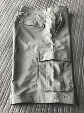 Hurley Men's Stretch Nike Dri-Fit Flat Front Cargo Shorts Gray Size 34