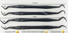 4x Dental Carbon Fibre Implant Scaling Scaler Periodental NoHarmTo Implants 134℃
