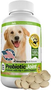 Amazing Probiotics for Dogs Eliminates Diarrhea and Gas, Hip Joint Pain Relief