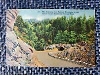 1940s Highway Tunnel Great Smoky Mountains National Park Linen Postcard