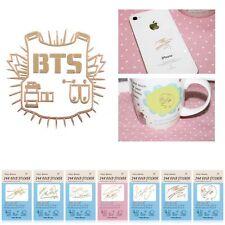 KPOP BTS Bangtan Boys Gold Anti-Radiation Sticker J-HOPE JIMIN For Cell Phone