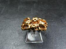 VINTAGE / ANTIQUE GEORGIAN STYLE MEMENTO MORI 9ct GOLD SKELETON RING