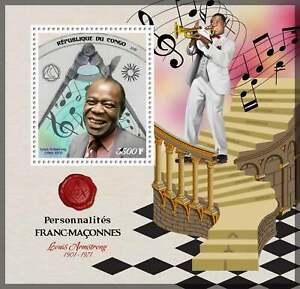 2019 Souvenir Sheet famous masons Louis Armstrong mnh