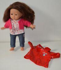 Adorable grande poupée COROLLE brune yeux marron 36 cm