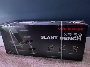 NEW Weider XR 5.9 Adjustable Slant Workout Bench 4-Roll Leg Lockdown