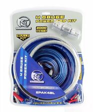 BULLZ AUDIO 4 Gauge Car Amplifier Amp Installation Power Wiring Kit   EPAK4BL