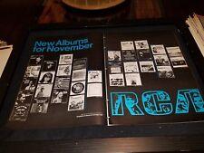 RCA Records Rare Original 1968 Retail Promo Poster Ad Framed!