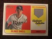 Blake Snell Rays 2018 Topps Heritage High Clubhouse Collection RELIC JERSEY