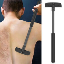 Stretchable Back Shaver Dry Wet Mens Body Grooming Hair Trimmer Removal Razor