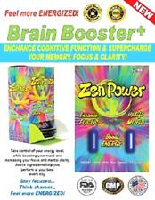 Zen Power 40ct Capsules Bottle- Nootropics Enhance Focus,Mood,Brain,Energy Pills