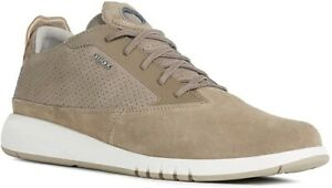 Geox Respira Herren AERANTIS A Low Top Sneaker Schuhe Halbschuhe U927FA Sand