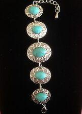 Bracelet Hippie Boho Tribal Silver Turquoise Bohemian Moroccan Gypsy B1023