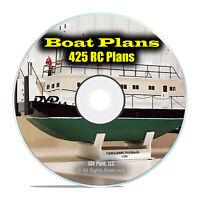 425 RC Remote Control Model Boat Plans, Ships, Tugboats, Fishing PDF DVD I20