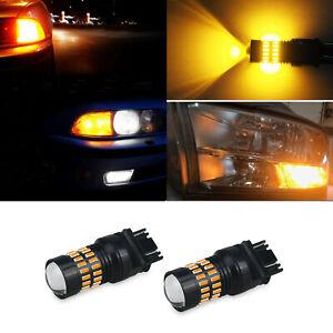 Front AMBER LED Turn Signal Light Bulb 3157 3457 4157 FOR Mercury Chevrolet 3056