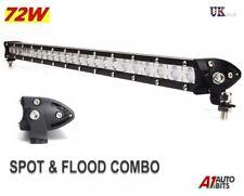 72W 24 Led Light Bar Flood Spot Work Lamp Suv Recovery Pickup Truck 4x4 Bullbar
