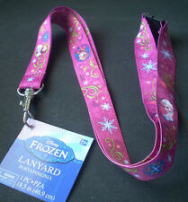 Lot of 2 Disney Frozen Anna Elsa Pin Trading Key ID Lanyards 18.5 in