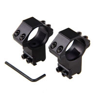 2xNarrow 30mm ring 11mm dovetail rail high profile for rifle scope hunting mount