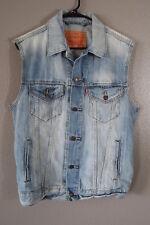 ` Mens Jeans Jacket sleeveless, Trucker's vest size Medium M, Levis strauss
