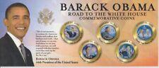 USA  Barack Obama  Satz mit 5 Farbmünzen  Road to the White House  Blister