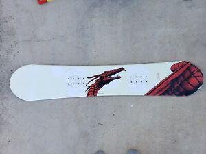 VORTEX LIQUID SNOWBOARDS Snowboard 150cm - White Red Dragon LSB 017318 No Bindin