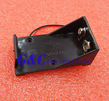 2PCS DC 9V Volt Battery Clip Holder Box Case w/ Wire Lead ON/OFF Switch Cover