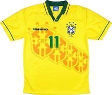Brazil World Cup Football Romario Home Soccer Jersey 11 Shirt 1994-1997
