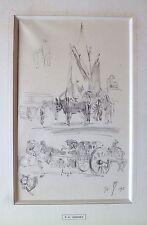 Paul-Elie Gernez dessin au crayon sur papier signé daté 1913