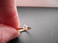 Q128 Ladies 18ct gold 0.33 carat Diamond solitaire engagement ring size I & 1/2