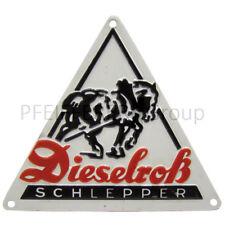Emblem Dieselross Alu für Kotflügel pas f. FENDT