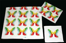 3 Pc C HOME Paint Splash LRG BUTTERFLIES Velour Bath & Hand Towel Washcloth NEW