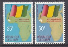 Guinea 203-04 MNH 1960 Map & Flag of Guinea 2nd Anniversary of Independence Set