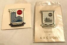 (2) ABC SPORTS 1980 Lake Placid OLYMPIC+Good Morning America ABC MEDIA PRESS PIN