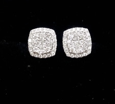 DEAL! 0.50CT NATURAL ROUND DIAMOND CLUSTER STUDS EARRINGS IN 10K GOLD 7MM