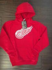 Detroit Red Wings NEW Youth Medium Suede Crest Eli Hoodie NHL Hockey Sweatshirt