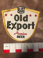 Vtg & Large OLD EXPORT PREMIUM BEER Back-of-Jacket-Size Advertising Patch 03L2