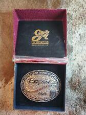 New listing Gist Ustrc Champion Team Roper Custom Sterling Silver w/Rubies Trophy Buckle