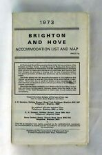 Vintage Brighton and Hove Accommodation List and Map 1973