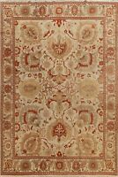 Geometric All-Over 9'x12' Oushak Oriental Area Rug Hand-knotted Wool Living Room