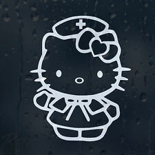 Hello Kitty Nurse Funny Car Or Laptop Decal Vinyl Sticker For Window Panel