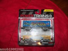Power Trains Graffiti Freight 2 Train Cars Series 1 NEW HTF FREE USA SHIPPING