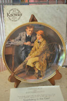 Knowles - Confiding in the Den - Rockwell Society of America Collectible Plate