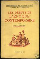 LES DEBUTS DE L'EPOQUE CONTEMPORAINE - HALLYNCK