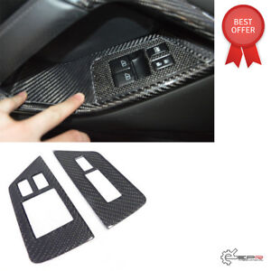 For Nissan GTR R35 (LHD)  Carbon Fiber Window Switch Control Panel Trim Cover