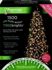 Premier 1500 LED TreeBrights Christmas Tree Lights with Timer - WARM WHITE