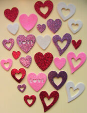 Glittered Love Hearts Foam stickers, scrapbooking,  Children's crafts